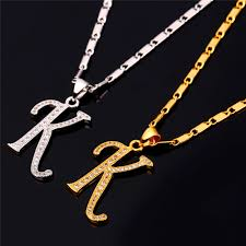 K N Air Filter Size Chart Us 6 9 40 Off Starlord Initial K Letter Pendants Necklaces Women Men Personalized Gift Alphabet Jewelry Gold Color Necklace P1681 In Pendant
