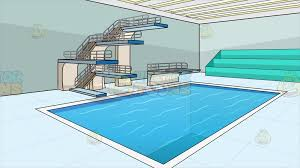 olympic swimming pool background. Indoor Olympic Style Diving Pool Background Swimming