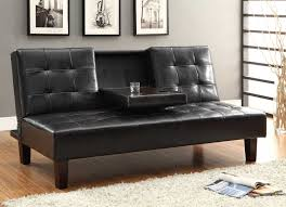 Homelegance Reel Clack Sofa Bed Dark Brown Tufted Fronts