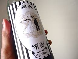 Diy Wine Bottle Labels Easy Ways To Personalize The Wedding Diy Weddings Custom Wine Labels