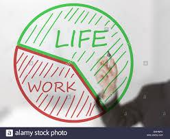 Businessman Drawing Life Work Balance Pie Chart Stock Photo