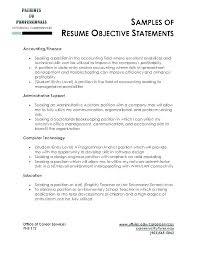 Job Objectives Great Resume Objectives Examples Wikirian Com