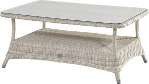brighton garden coffee table 140cm with provance rattan wicker and tempered glass table top