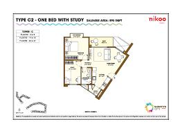 bhartiya city nikoo homes phase ii floor plan