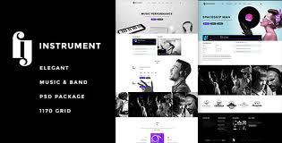 Music Website Templates Interesting Instrument Elegant Music Bands PSD By Kidesigner ThemeForest