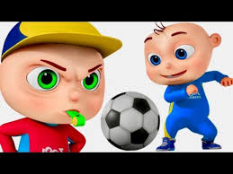 playing cartoon zool babies playing soccer five little babies series cartoon