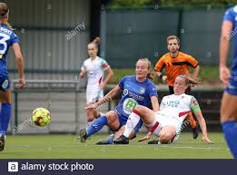 Heverlee, Belgium. 30th Aug, 2020. Gent's Lobke Loonen (17) (L) and OHL's  Lenie Onzia (8) (R)