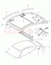 868x1100 porsche 911 996 carrera glass roof driving mechanism parts