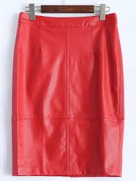 latest faux leather pencil skirt