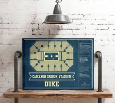 Duke Basketball Seating Chart Duke Blue Devils Cameron Indoor Stadium Seating Chart College Basketball Blueprint Art