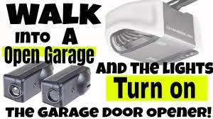 My Garage Door Sensor Light Is Out Chamberlain Garage Door Opener Light Reversing Sensors Turn On Off