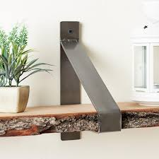 suspended metal shelf brackets wall