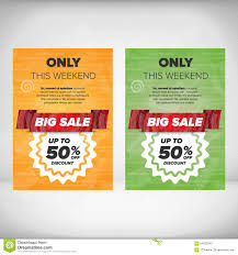Discount Flyer Template Big Sale flyer template stock vector Illustration of fashion 24 1