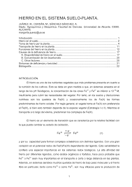 Hierro En El Sistema Suelo Planta Pdf Download Available