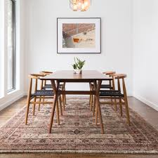 Traditional Brown Multi Medallion Distressed Rug 53 X 78 In