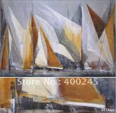 high quality oil painting boats modern abstract art home decor ocean regatta maria antonia torres sail