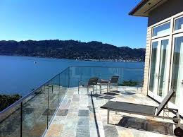 top glass deck railing systems