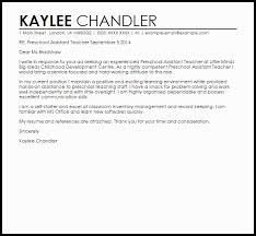 Teacher Assistant Cover Letter Samples Daycare Teacher Assistant Cover Letter Sample Thank You Note To