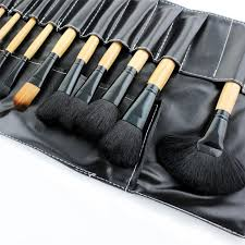 professional cosmetic makeup top 24 brush set kit brushes with black free case from australia