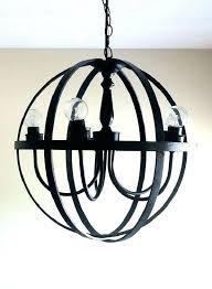metal orb light metal orb chandelier black large metal orb chandelier world market metal orb chandelier