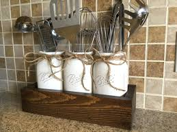 Mason Jar Bathroom Accessories Mason Jar Storage Etsy