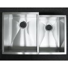 stainless steel undermount sink. 33 Inch Stainless Steel Undermount 60/40 Offset Double Bowl Kitchen Sink Zero Radius Design D