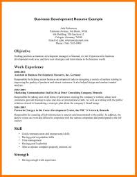 Business Development Resume Objective Business Intelligence