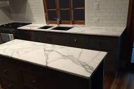 30mm Calacatta Marble Kitchen with Pencil Round Edge
