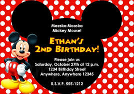 Birthday Invite Templates Free To Download Mesmerizing Mickey Mouse Invitation Free Download Mickey Mouse Invitation