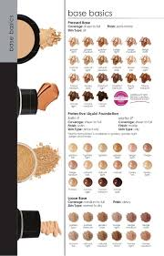 Glo Minerals Colour Chart Glominerals Cosmetics Pressed Liquid And Loose