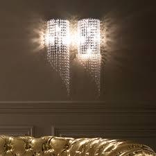 italian designer crystal drop wall light