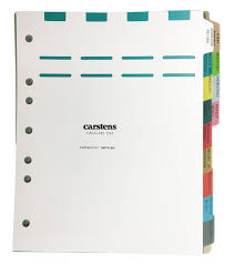 Carstens Charts Heavy Duty Plastic Oncology Divider Set 13 Tabs Multi Color For Side Opening Binders