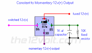 special applications spdt relays constant to momentary 12v output relay diagram