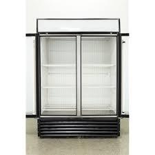 18781 used true gdm 49f 2 swing glass door merchandiser freezer stock no