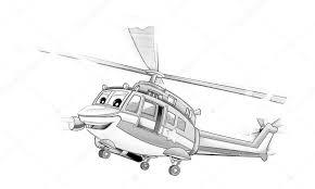 Kleurplaat Politie Helikopter Stockfoto Illustratorhft 53736105