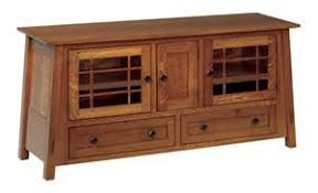 Amish McCoy Mission Open Flat Screen TV Stand | Craftsman ...