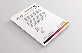 White Letterhead Template To Complement Your Business Card