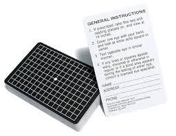 Eye Test Chart Grid Amsler Grid Eye Test Cards
