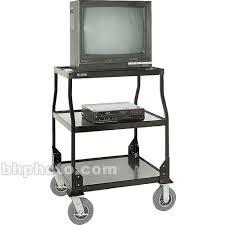 tv cart on wheels.  Cart Luxor 46 On Tv Cart Wheels Bu0026H