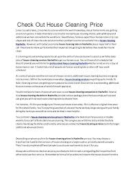 How To Price A House Cleaning Job House Cleaning Prices Check Out House Cleaning Price Since Getting