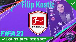 DIESE SBC MUSST DU MACHEN, WENN…! 😍💥 POTM KOSTIC SBC! [LOHNT SICH DIE  SBC?] | FIFA 21 ULTIMATE TEAM - YouTube