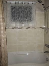 shower window curtains window in shower curtain as