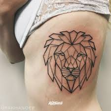 Geometry Lion татуировки в санкт петербурге Rustattooru