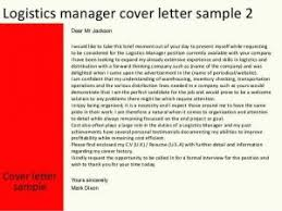 Collection Of Solutions Cover Letter Logistics Assistant About