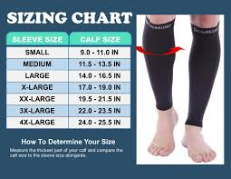 Doc Miller Size Chart Details About Doc Miller Calf Compression Sleeve 30 40 Mmhg Varicose Veins Leg Support Black