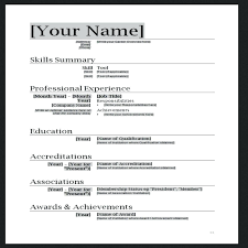 Basic Resume Template Free Free Resume Template Word Curriculum