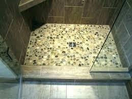 river rock shower floor tile fireplace home design ideas ceramic cleaner river rock shower