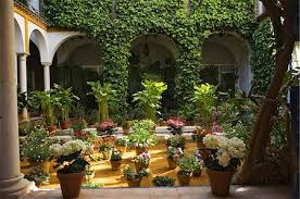 spanish patio stock photos page 1