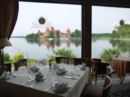 file trakai castel from the restaurant the round table club panoramio jpg