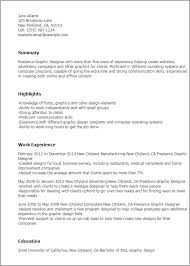 Resume Templates: Freelance Graphic Designer